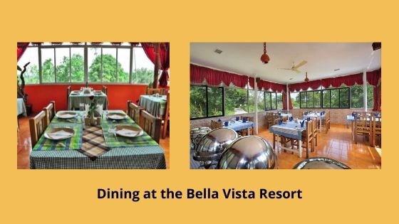 Dining at the Bella Vista Resort munnar