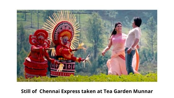 Still of Chennai Express taken at Tea Garden Munnar