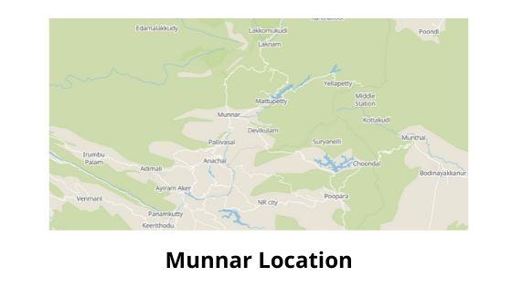 munnar location map