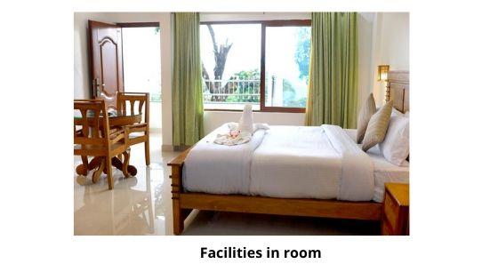 Facilities in seven springs plantation resort room munnar kerala india