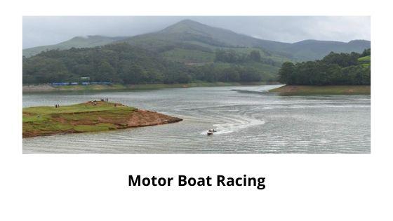 boat racing in mattupetty dam munnar kerala india