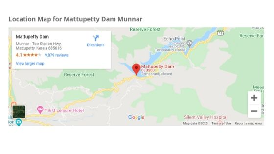 mattupetty dam location