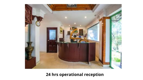 24 hrs operational reception in great escape resort munnar kerala