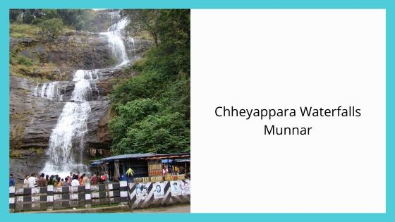 Chheyappara Waterfalls sightseeing places near munnar kerala india