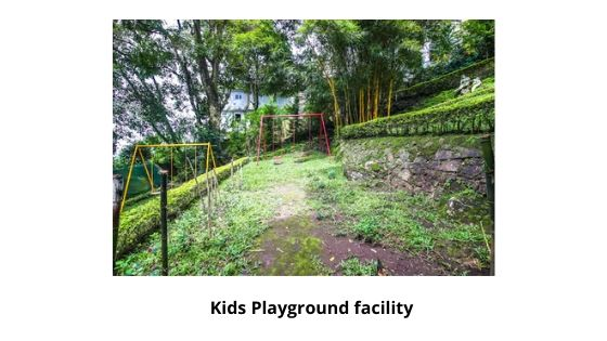 Kids playground facility Restaurent in great escape resort munnar kerala india