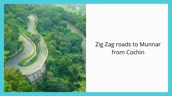 Zig Zag roads to Munnar from Cochin