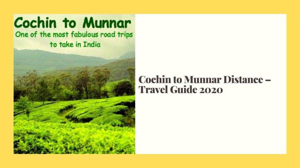 cochin to munnar distance