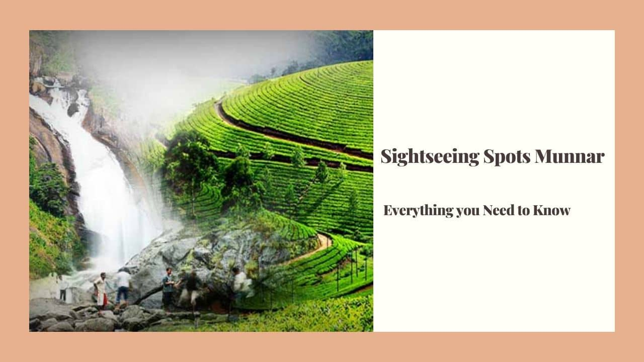 sightseeing places near munnar kerala india